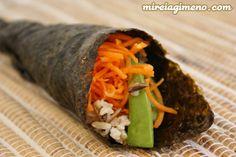 Temaki de arroz salvaje http://www.mireiagimeno.com/recetas/temaki-de-arroz-salvaje