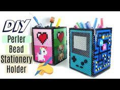 DIY Perler Bead Stationery Holder (Video Game Theme)