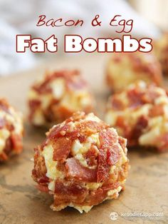Bacon & Egg Fat Bombs / #lowcarb shared on https://facebook.com/lowcarbzen