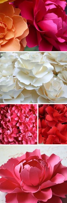 Step by step...Make your own paper flowers...beautiful! http://greenweddingshoes.com/diy-giant-paper-rose-flower/