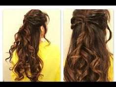 Twisted-Flip, Half-Up Curly Hairstyles | Long Hair Tutoria Try :)l