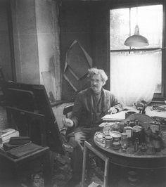 A photo taken in his dark damp basement flat, at 5 Wynne Road, Brixton, in 1953.