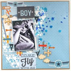Cocoa Vanilla Studio : Flying High Collection : Come Fly With Me layout by Amanda Baldwin