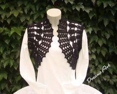 Boleros & Shrugs - Bolero, Shrug gehäkelt, schwarz Gr. S - M - ein Designerstück von Dreams-Art bei DaWanda
