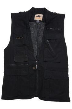 Humvee Photo Safari Vest Black L
