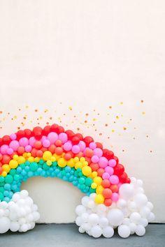 27 super Ideas for baby shower ideas rainbow first birthday parties Rainbow First Birthday, Unicorn Birthday Parties, Unicorn Party, First Birthday Parties, First Birthdays, 22 Birthday, Happy First Birthday, Birthday Balloons, Rainbow Balloon Arch