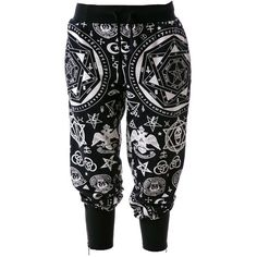Killstar Occult Sweatpants Jogging Wicca Goth Witchcraft Pants ($75) ❤ liked on Polyvore featuring activewear, activewear pants, sweat pants, jogger sweatpants, sport sweat pants, jogger sweat pants and killstar