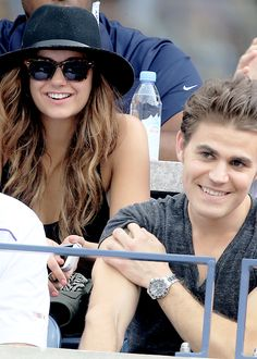 Paul Wesley and Nina Dobrev at the US Open Sightings (September 6)