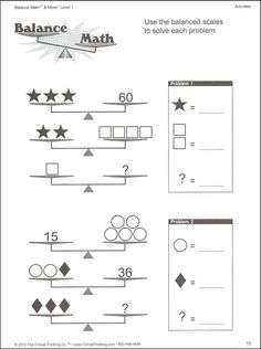 balance scale worksheet for kids - Google Search | Primary ...