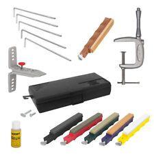 Lansky Deluxe Schleif-Set Profi Messer-Schärfer mit C Klemme und Leder-Abzieher Tools, Bow, Knives, Appliance