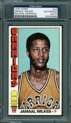 e90c1cd64bd Warriors Jamaal Wilkes Authentic Signed Card 1976 Topps  16 PSA DNA  Slabbed. Oakland Raiders LogoStar LogoNba ChampionsLos Angeles  LakersBasketball ...