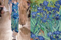 Match #358 Maison Margiela Haute Couture Fall 2014 | Irises (detail) by Vincent van Gogh More matches here