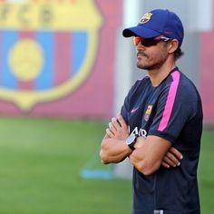 Luis Enrique takes first training session  Luis Enrique dirige el primer entrenamiento  #FCBarcelona
