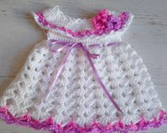 PATTERN PT071 0-12 Months Crochet Baby Dress Baby Dress