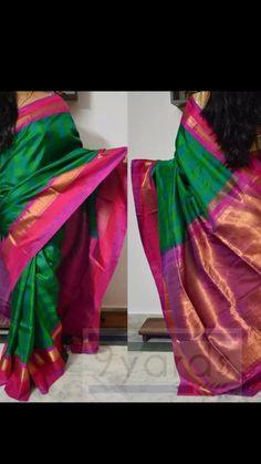 Parrot green check kanji Phulkari Saree, Velvet Saree, Checks Saree, Saree Jewellery, Wedding Saree Collection, Simple Sarees, Indian Bridal Wear, Elegant Saree, South Indian Bride
