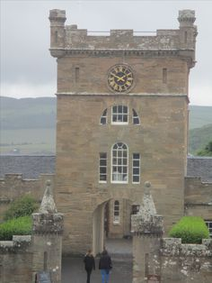 Culzean Castle, Clock-Tower.  Robert Adam design.  Can you guess which windows are real and which are fake?