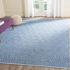 Safavieh Montauk Blue/Ivory 8 ft. x 10 ft. Area Rug-MTK811B-8 - The Home Depot