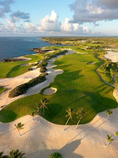 Tom Fazio's Corales Golf Course, Puntacana Resort & Club, Dominican Republic #golfresort I Rock Bottom Golf #rockbottomgolf Shop for the best in Golf Push Carts and More at http://bestgolfpushcarts.net/