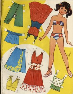 Photo: Barbie Paper Dolls, Vintage Paper Dolls, 1960s Party, Paper Art, Paper Crafts, Kids Toys For Boys, Discovery Toys, Paper Dolls Printable, Kawaii Doodles