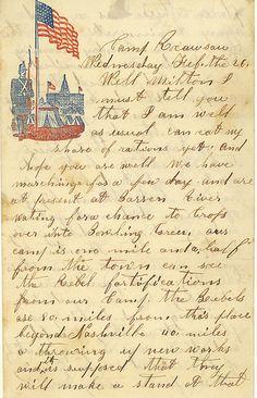 1862 camp rousseau ky union civil war soldier letter 15th ohio infantry regt