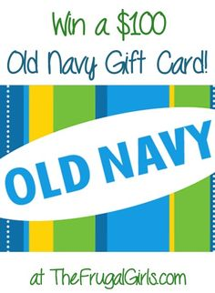 Giveaway: Enter to win a $100 Old Navy Gift Card!! ~ at TheFrugalGirls.com #fashion #backtoschool