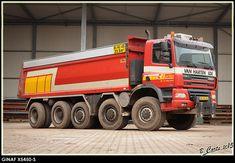 GINAF X5450-S 10x8 kippertruck van Van Herten uit Ede