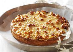 God jul tærte - Lækker tærte med marcipanbund - Se opskriften her