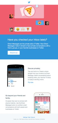 The Fathom & Draft, see what's new with Direct Messages on Twitter. - Really Good Emails