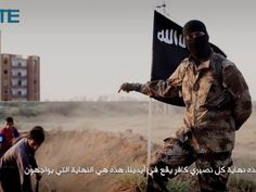 Local Input~ ISIS released an hour-long propaganda video intended to discourage an international military campaign against the group. It showed a masked gunman standing before captured Syrian troops digging their own graves. After speaking in what sounded like North American Ñ possibly Canadian Ñ English, he appeared to help execute the kneeling prisoners with a handgun. ( With Stewart Bell story)