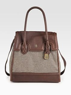 Cole Haan houndstooth tote bag