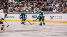 @Dallas Dyer Stars captain, Jamie Benn, goes Beast Mode just 42 seconds into the game vs. Nashville on Dec. 27, 2013 (images & GIF by Trey Hill @Trey Philips Hill)
