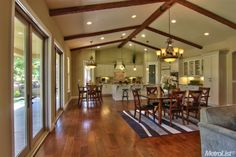 Love this open space.  Don't even need a formal living room with this!