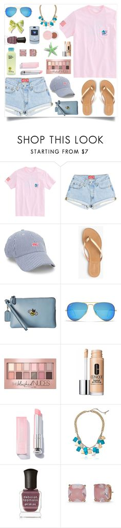 """Untitled #984"" by liska1986 ❤ liked on Polyvore featuring Vineyard Vines, J.Crew, Coach, Ray-Ban, Maybelline, Clinique, Kenneth Cole, Deborah Lippmann, Kate Spade and Motorola"