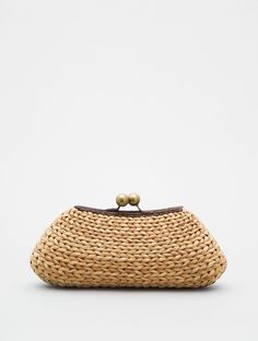 Raffia Clutch with Ball Clasp by Kayu - HANDBAGS - Lori's Designer Shoes, The Sole of Chicago