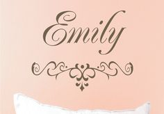 Wall Decal- Girl Name Vinyl Wall Decal - Monogrammed Vinyl Lettering - Personalized Name - Girls Room Decor- Baby Nursery. $18.00, via Etsy.