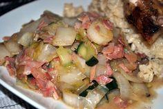 Roergebakken witlof met ham