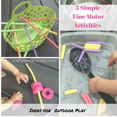 Simple fine motor activities for outdoor play with water #kids #waterplay #outdoorplayideas