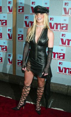 Pin for Later: Relive the Most Jaw-Dropping Looks From the MTV VMAs Britney Spears Britney showed us her dominatrix side in '02.