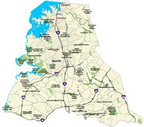 Mecklenburg County Parks and Recreation Cities In North Carolina, Rocky River, County Park, Memorial Park, Parks And Recreation, Charlotte, Bucket, Map, Cemetery