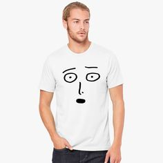 7b7a4bb3 Saitama One Punch Man Funny Face Black Men's T-shirt model Fathers Day  Gifts,. Customon