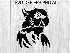 Cricut, Cute Birds, Silhouette Files, Art File, Vector File, Clipart, Cutting Files, Parrot, Vinyl Decals
