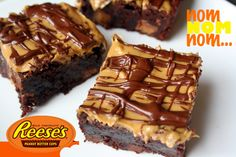 Reeses Peanut Butter Cup Brownies.....Two of my favorite things...Brownies and Reese's