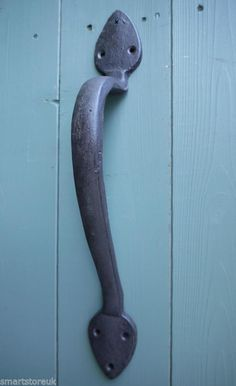 Large Strong Cast Iron Door handle,Gate Handle,Shed,Blacksmiths Reproduction | eBay