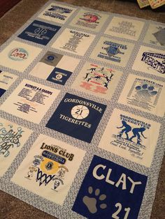 Cara's T-shirt quilt. 2019 Cara's T-shirt quilt. The post Cara's T-shirt quilt. 2019 appeared first on Quilt Decor. Quilting Projects, Quilting Designs, Craft Projects, Sewing Projects, Quilting Ideas, Craft Ideas, T-shirt Quilts, Barn Quilts, Carthage