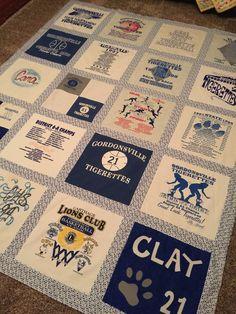 Cara's T-shirt quilt.