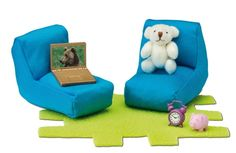 Teenage Room, Christmas 2014, Extra Seating, Toys For Girls, Room Set, Piggy Bank, Floor Chair, Teddy Bear, Dollhouses