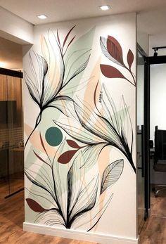 Wall Painting Decor, Mural Wall Art, Wall Drawing, Room Decor, Wall Decor, Inspiration Wall, Home Decor Furniture, Walls, Ideas