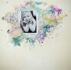 ScrapFriends - All about Scrapbooking: Using Twinkling H20's for a quick painterly background