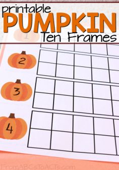 Nothing says fall quite like pumpkins and these printable pumpkin ten frames are a great way to practice numbers 1 through 10 with your preschooler!