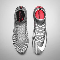 Magista or Superfly? Both Wolf Grey colourways from Nike Football's new Revo
